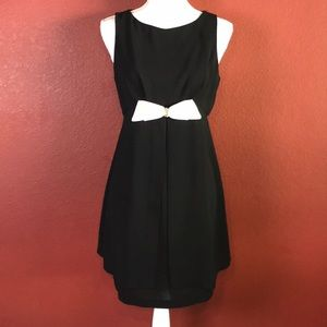CDCPetites Caryn Desiree Little Black Dress w/bow